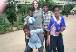 Children with Lucy(volunteer)